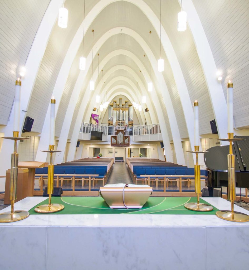 alter facing back into sanctuary holy cross dallas